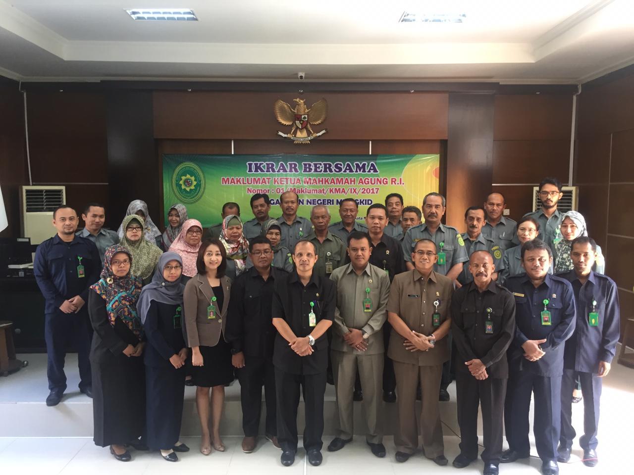 Pengukuhan Kembali Ikrar Bersama Maklumat KMA 01/Maklumat/KMA/IX/2017