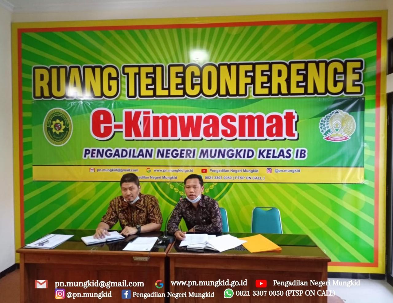 Pengadilan Negeri Mungkid Kelas 1B mengadakan E-KIMWASMAT  dengan Narapidana melalui dharing