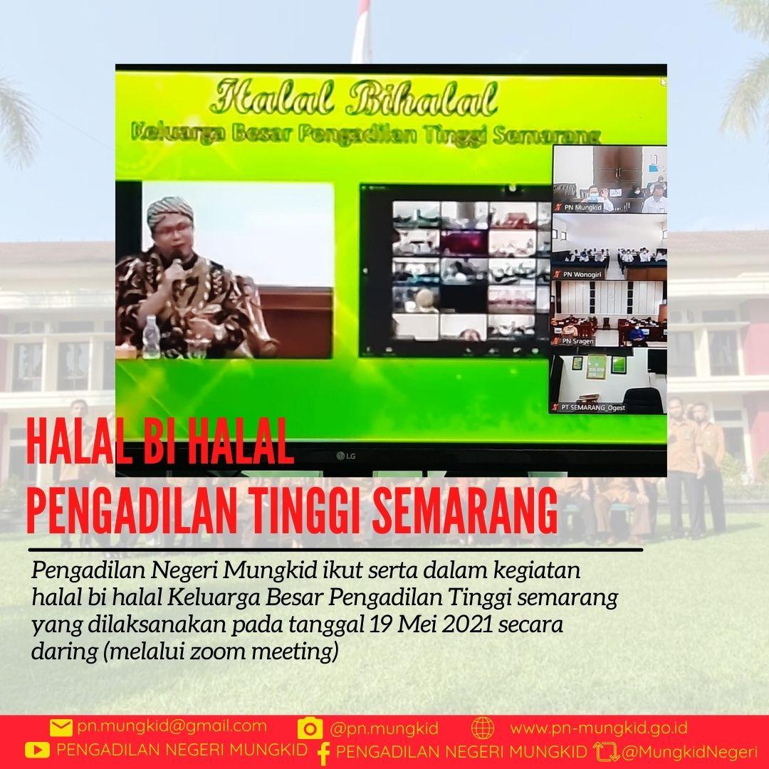 Pengadilan Negeri Mungkid Kelas 1B Mengikuti Acara Halal bi Halal Pengadilan Tinggi Semarang