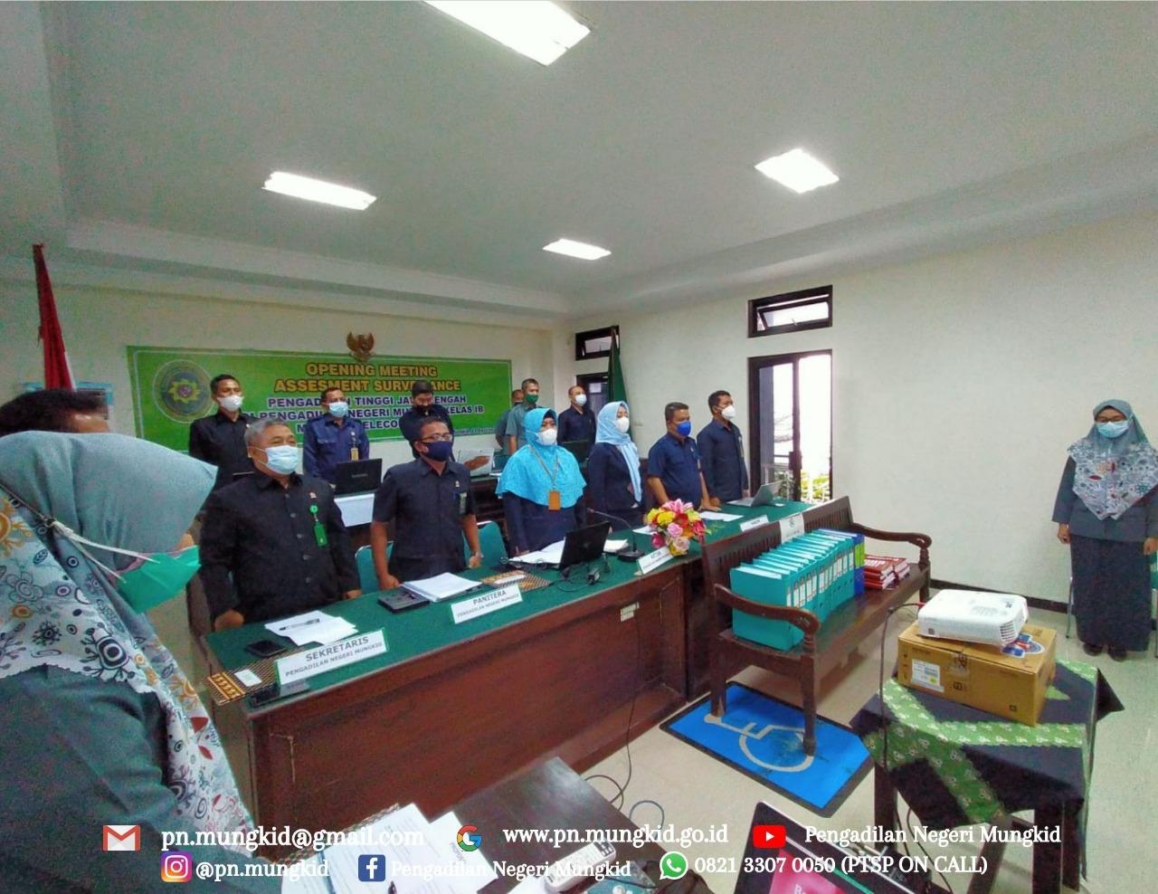 Pengadilan Negeri Mungkid Kelas IB melaksanakan Assessment Surveilence
